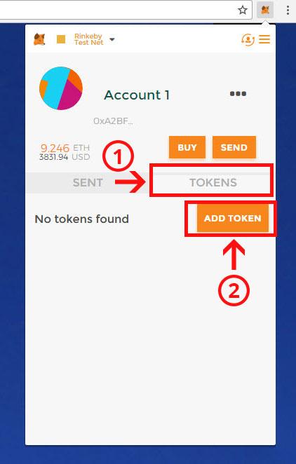 how to create token wallet in metamask